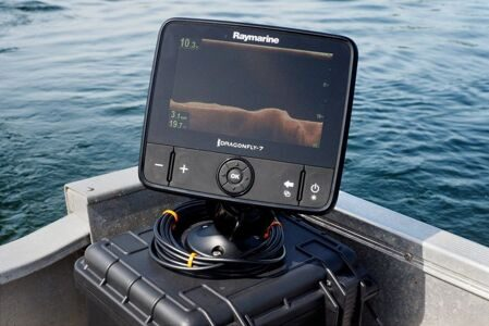 "Эхолот-картплоттер Raymarine Dragonfly-7 Pro 7"" Sonar GPS with CHIRP DownVision & CPT-DVS Transom Mount Transducer, No Chart"
